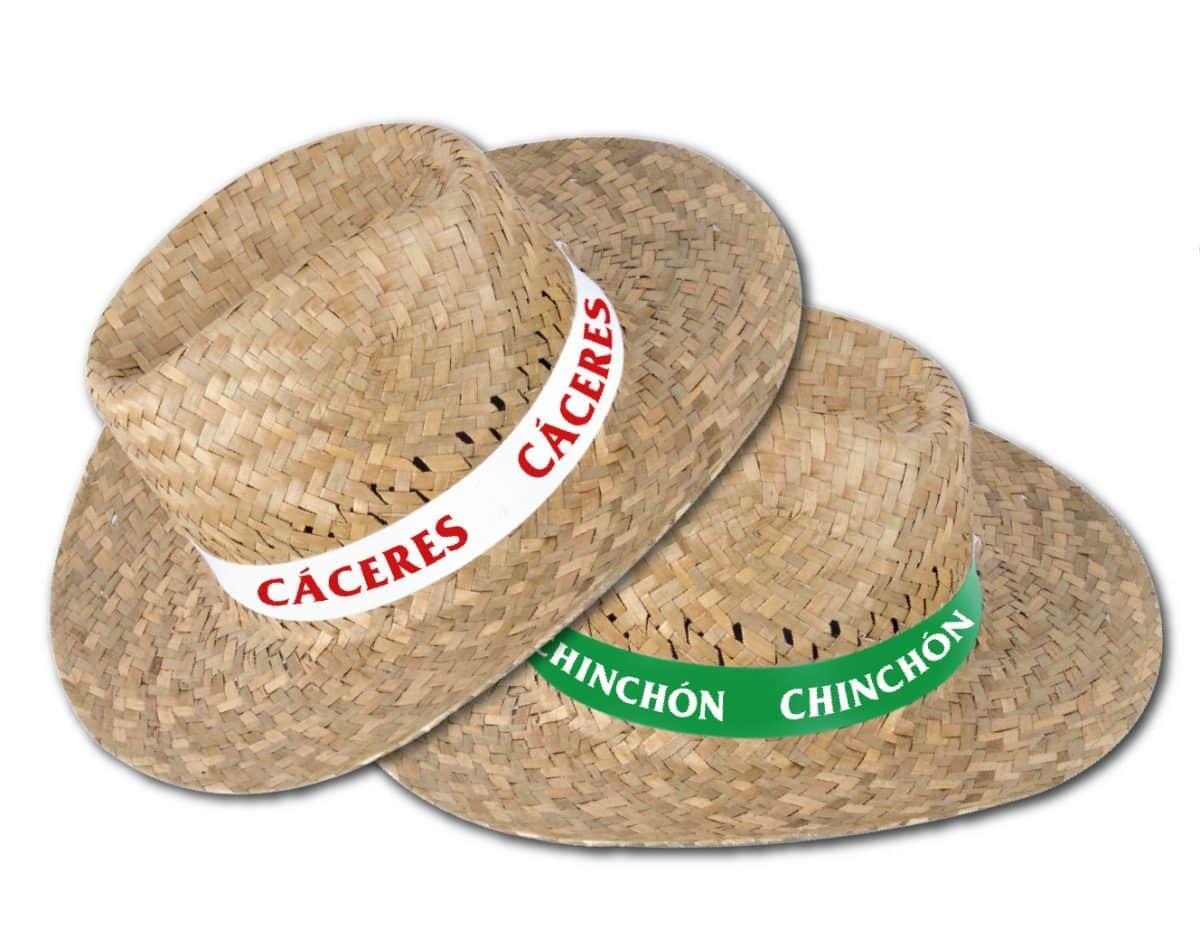 cb737c1a25 Sombrero de paja personalizado con cinta grabada a una tinta