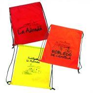 mochila bolsa o gymsak de colores surtidos a 1 tinta