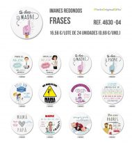 Imanes redondos de diferentes temáticas - Frases I