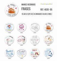 Imanes redondos de diferentes temáticas - Frases II