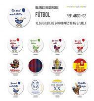 Imanes redondos de diferentes temáticas - Futbol