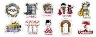 Imán de madera a todo color de Córdoba