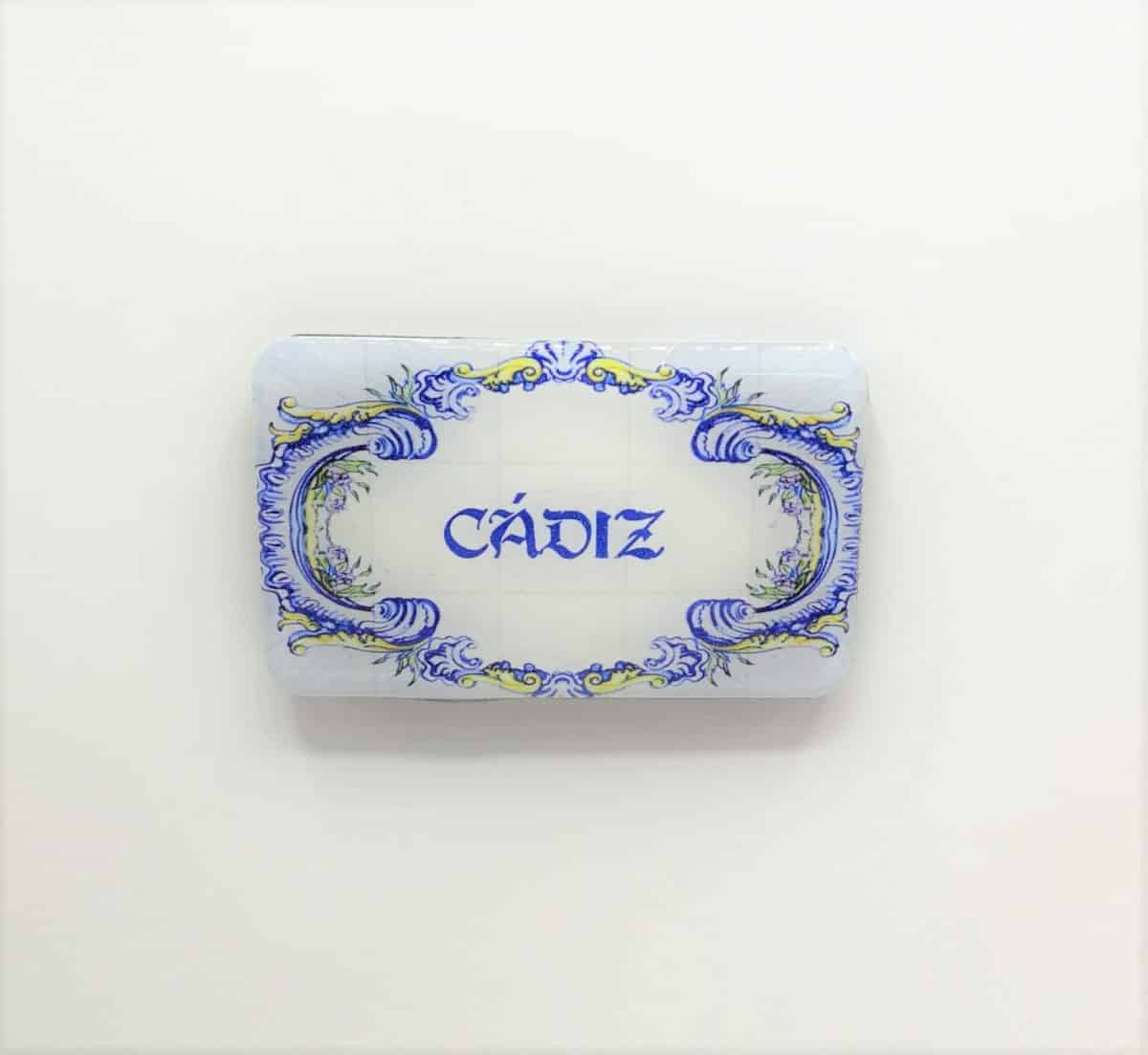 Im n de resina azulejo c diz photooriginalgifts for Azulejos cadiz